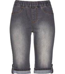 bermuda di jeans con elastico (grigio) - bpc selection