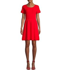 hamilton cutout knit flare dress
