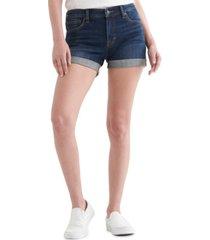 lucky brand ava roll-hem denim shorts