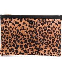 dolce & gabbana leopard print make-up pouch - neutrals