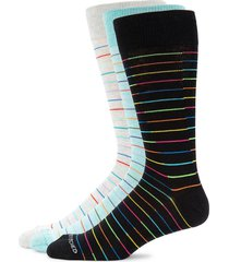 unsimply stitched men's 3-pair crew socks - black multi