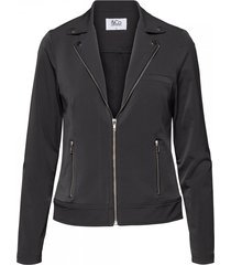 &co woman blazer page biker grijs