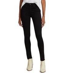 rag & bone women's cate mid-rise skinny jeans - black - size 31 (10)