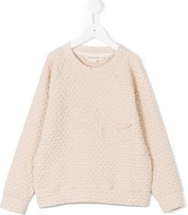 andorine textured knit sweatshirt - neutrals