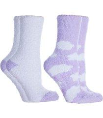 minxny women's soft fuzzy cloud slipper socks, 2 pairs