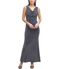 vince camuto petite cowlneck jersey gown