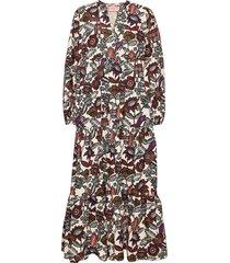 voluminous printed organic cotton dress dresses everyday dresses brun scotch & soda