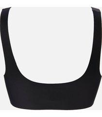 organic basics women's invisible bra - black - xl