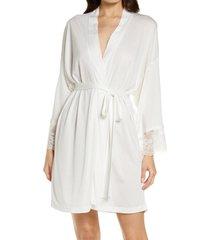 women's monique lhuillier x hanky panky bouquet robe, size medium/large - white