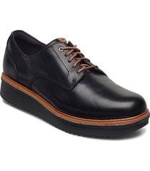 teadale rhea snörade skor låga svart clarks