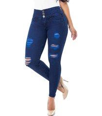 jeans push up 12550 azul cheviotto