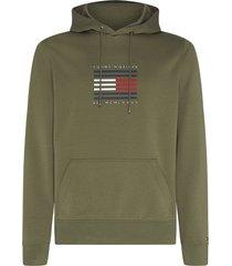 tommy hilfiger hoodie met print olijf