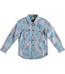 petrol lichtblauw overhemd