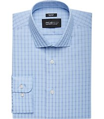 awearness by kenneth cole blue plaid slim fit dress shirt