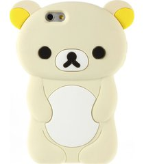 rilakkuma bear silica gel case for iphone 6 / 6s 4.7 inch - beige