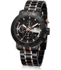 reloj de hombre t5 pulso acero h3635g-d - negro/oro rosa