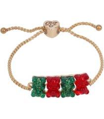 betsey johnson festive gummy bear slider bracelet