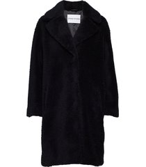camille cocoon coat outerwear faux fur svart stand studio