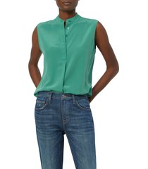 equipment therese sleeveless silk top, size x-small in green at nordstrom