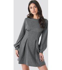 na-kd long sleeve sweater dress - grey
