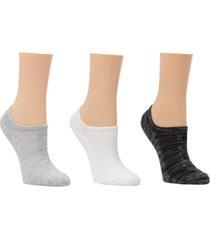 dkny sport women's 3-pk. microfiber mesh logo liner socks