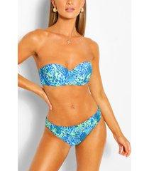 mix & match leopard fix bikini brief, blue
