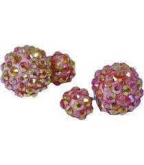 aretes rosaos de bolas topo  ar-10948