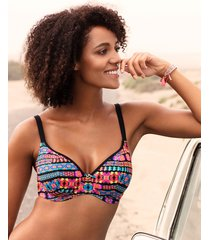 echo beach underwire plunge bikini top