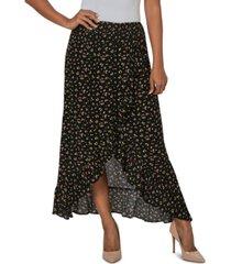 just polly juniors' printed ruffle maxi skirt