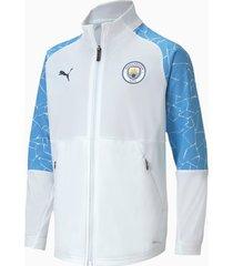 man city stadium youth football jacket, wit/blauw/aucun, maat 140 | puma