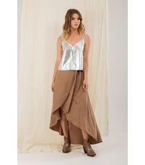 falda larga wrap