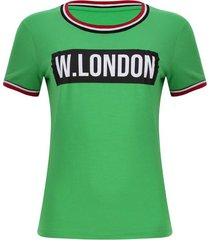 camiseta w.london color verde, talla 10