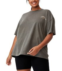trendy plus size oversized graphic t-shirt