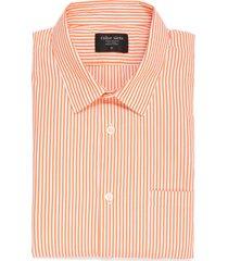 camisa manga larga thompson color siete para hombre - naranja
