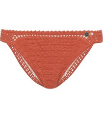 she made me classic crochet bikini bottoms - orange
