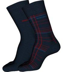 men's hugo assorted 2-pack dress socks, size one size - blue