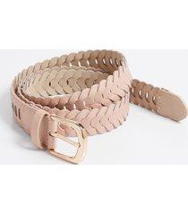 maurices womens blush braided belt pink