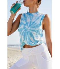 women's free people fp movement love tie dye tank, size x-small - blue