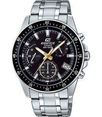 reloj casio efv540d_1a9v plateado acero inoxidable