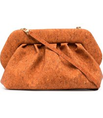 themoirè bios large cork clutch bag - orange