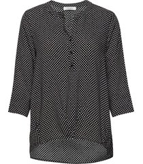 blouse long-sleeve blus långärmad svart gerry weber edition