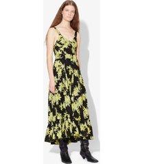 proenza schouler splatter floral tiered dress yellow/black splatter floral 2