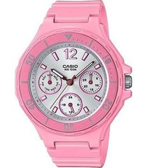 reloj analógico mujer casio lrw-250h-4a3 cronógrafo - rosa con plateado