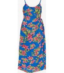 vestido hallie wrap slip tropical tommy hilfiger
