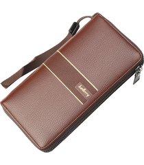 billetera larga para hombres baellerry kna cartera-marrón