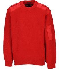 balenciaga embroidered logo sweater