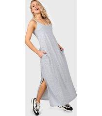 vestido gris destino collection