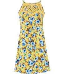 abito con pizzo a uncinetto (giallo) - bodyflirt boutique