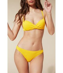 calzedonia elisa bikini bottoms woman yellow size 4