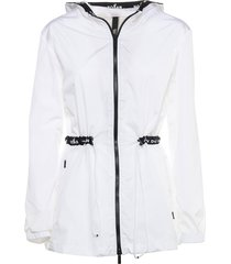 hogan hogan white wind jacket